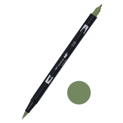 Tombow ABT Dual Brush Çift Uçlu Keçeli Kalem Gray Green - 228