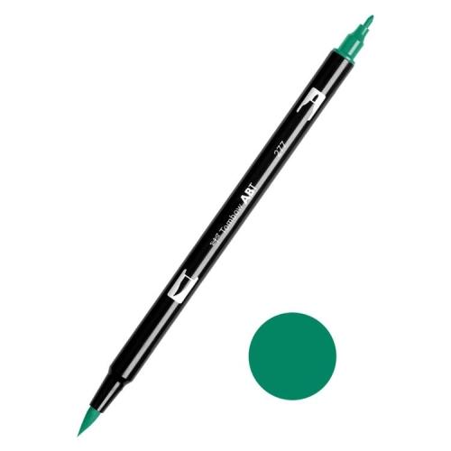 Tombow ABT Dual Brush Çift Uçlu Keçeli Kalem Dark Green - 277
