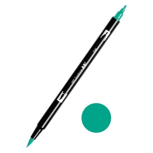 Tombow ABT Dual Brush Çift Uçlu Keçeli Kalem Green - 296