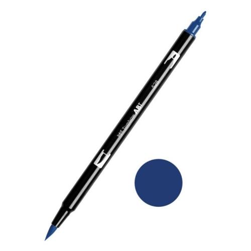 Tombow ABT Dual Brush Çift Uçlu Keçeli Kalem Navy Blue - 528