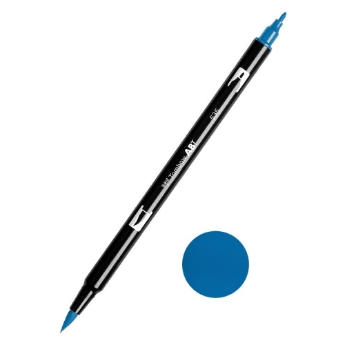 Tombow ABT Dual Brush Çift Uçlu Keçeli Kalem Cobalt Blue - 535