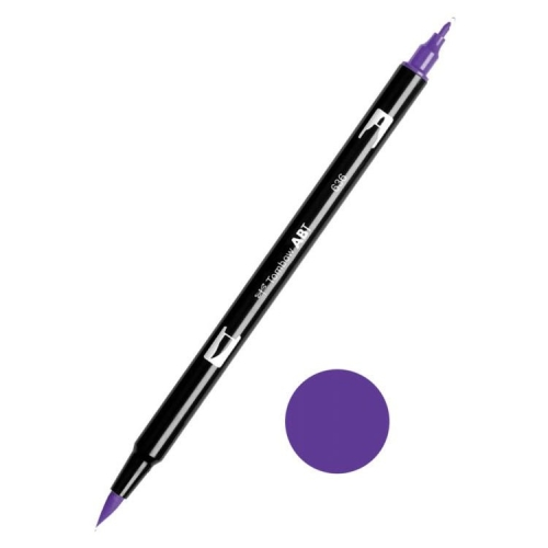 Tombow ABT Dual Brush Çift Uçlu Keçeli Kalem Imperial Purple - 636