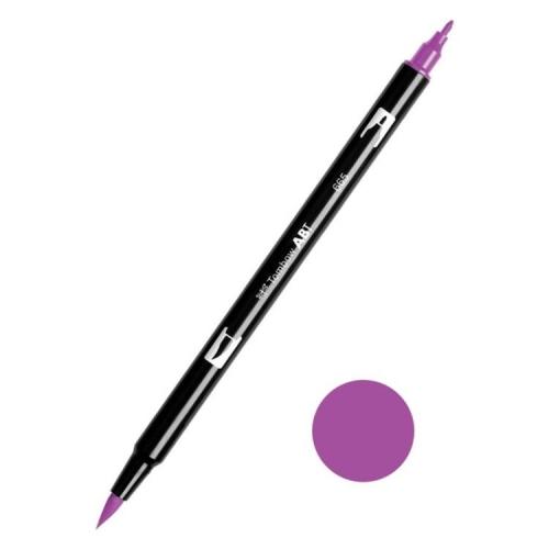 Tombow ABT Dual Brush Çift Uçlu Keçeli Kalem Purple - 665