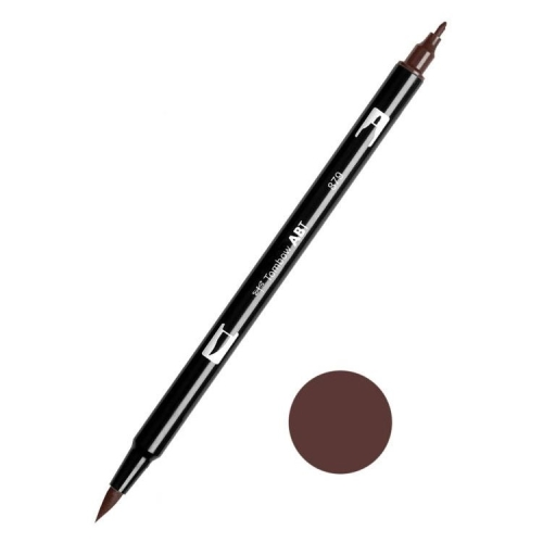 Tombow ABT Dual Brush Çift Uçlu Keçeli Kalem Brown - 879