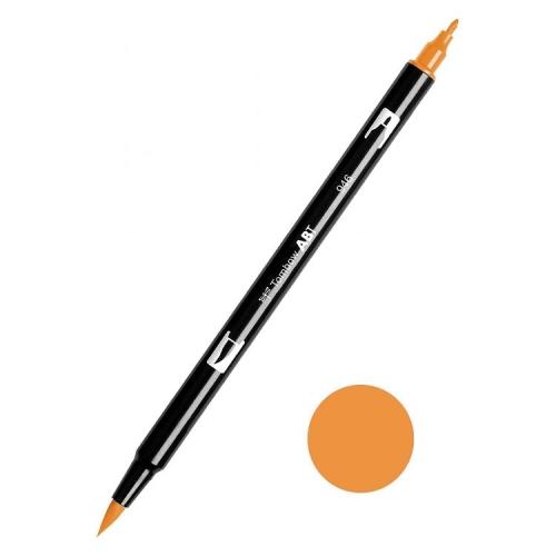 Tombow ABT Dual Brush Çift Uçlu Keçeli Kalem Gold Orche - 946