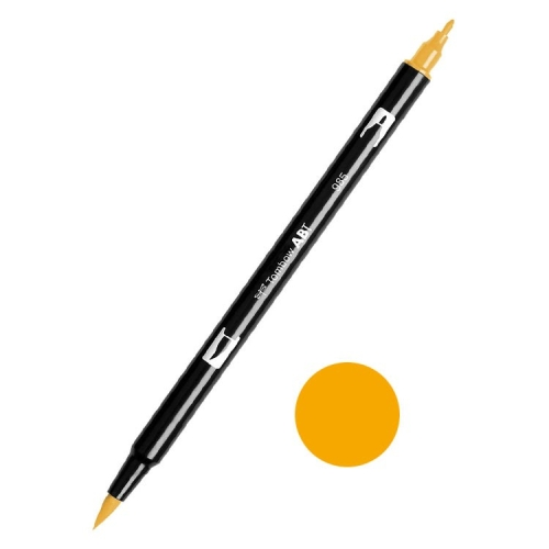 Tombow ABT Dual Brush Çift Uçlu Keçeli Kalem Chrome Yellow - 985