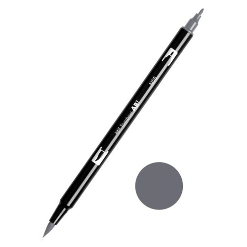 Tombow ABT Dual Brush Çift Uçlu Keçeli Kalem Cool Gray 7 - N55