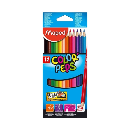 Color Peps 12'li Kuru Boya - Maped