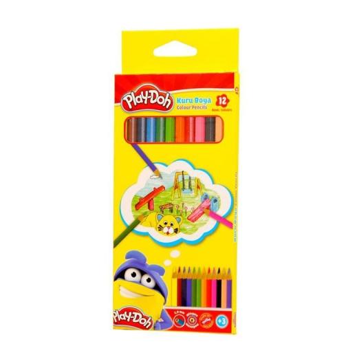 Play-Doh Woodfree Altıgen 12 Renk Kuru Boya