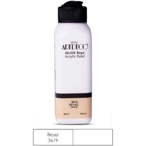 Artdeco Akrilik Boya 140ml 3619 Beyaz