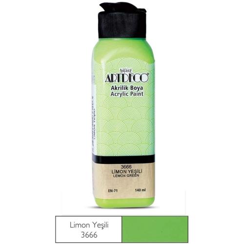 Artdeco Akrilik Boya 140ml 3666 Limon Yeşil