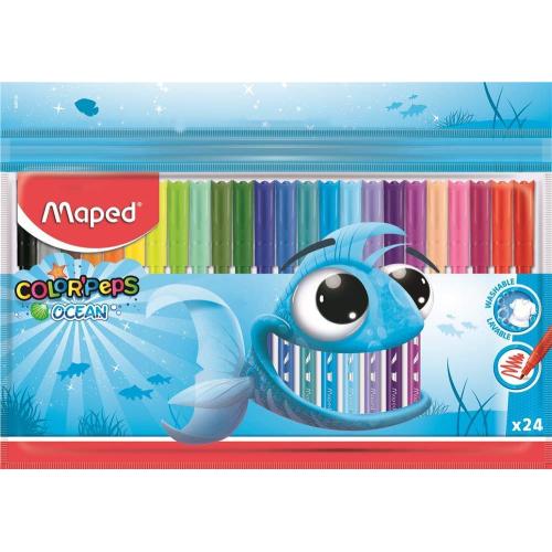 Color Peps Ocean 24'lü Keçeli Kalem - Maped