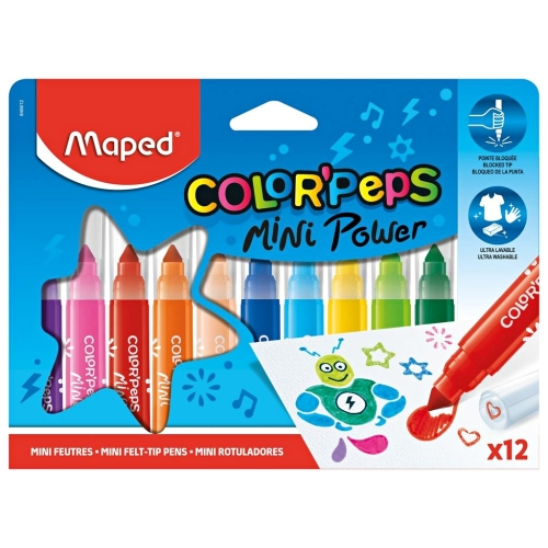 Color Peps Mini Power Jumbo 12'li Keçeli Kalem - Maped