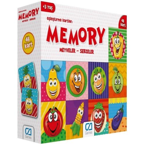 Memory Eşleştirme Kartları - Meyveler - Sebzeler