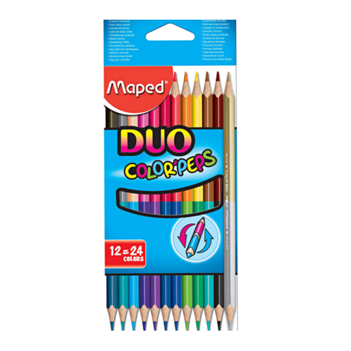 Color Peps Duo 12'li 24 Renk Boya Kalemi - Maped