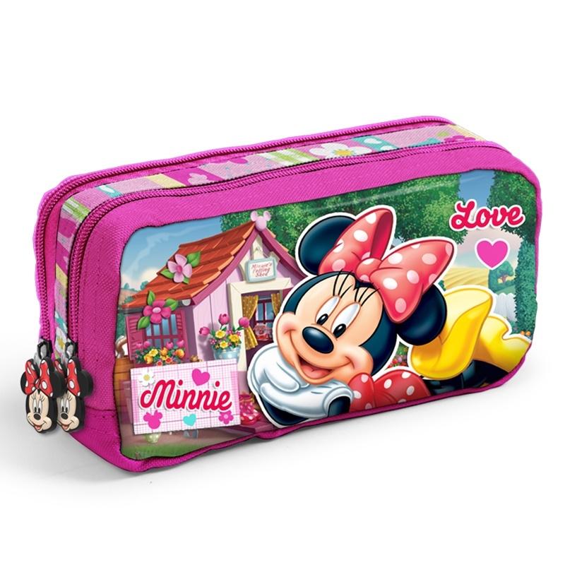 Minnie Mouse Çift Katlı Kalem Kutu - Yaygan
